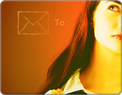 image representing a person thinking about sending email